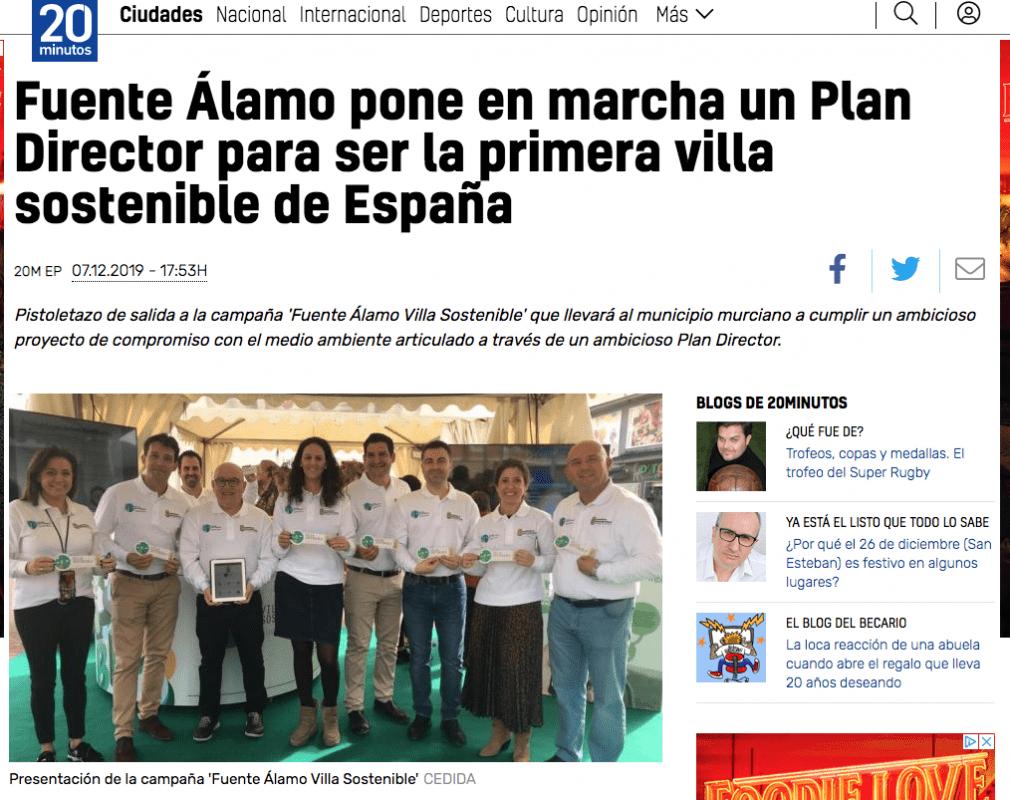 Fuente Álamo pone en marcha un Plan Director para ser la primera villa sostenible de España