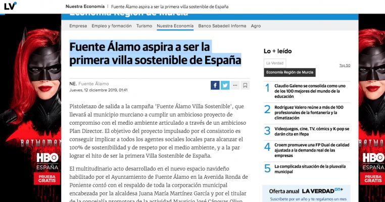 Fuente Álamo aspira a ser la primera villa sostenible de España