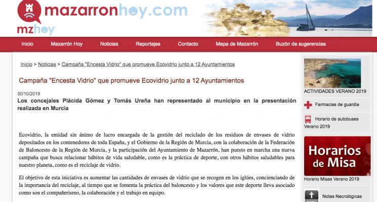 """Campaña """"Encesta Vidrio"""" que promueve Ecovidrio junto a 12 Ayuntamientos"""