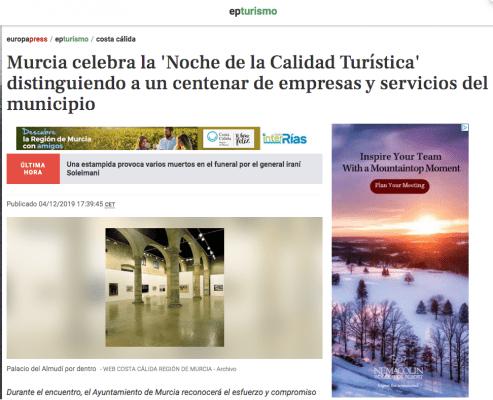 Europa Press - Noche de la calidad turistica de Murcia Marevents